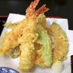 いってつ - 蕎麦ご膳の天ぷら