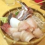 うまいもんや 桜亭 - 刺し盛り(^_^) 新幹線まで富山を満喫‼️ やはり美味い
