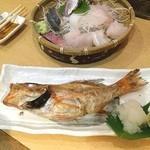 うまいもんや 桜亭 - 高級魚のどぐろの塩焼き(^_^) つれは私より早い新幹線なので間に合わずに帰りました…