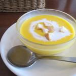 浪漫館横浜 - 浪漫館タルティーヌチキンサンド 冷製かぼちゃのスープ