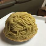 グラン・クリュ - 和栗のモンブラン。税込508円。 いつもの栗と違います。栗の色も違う⁉︎