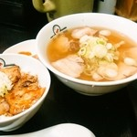 喜多方ラーメン 坂内 小法師 - 「炙り叉焼ご飯セット(890円)」