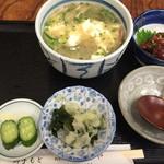 さくらや - 冷や汁とまぐろユッケ ¥1,080
