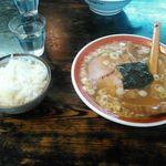日本亭 - ラーメン+半ライス