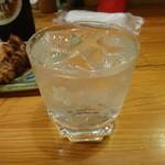 やきとり五番 - 紅福の水割り