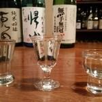 酒BAR よらむ - 利き酒セット(原田・帰山・無手無冠で)