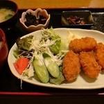 川西商店 - カキフライ定食