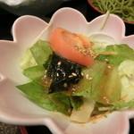 磯の香亭 - 天重のサラダ