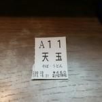名代 富士そば - 食券。深夜の富士そば(笑)