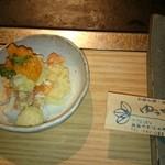 ゆうぜん - 料理写真:おまけ  前菜  カボチャとポテトサラダ
