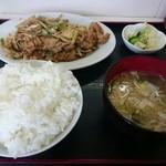 大将 - 辛口焼肉定食・並(700円)