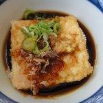 ごん太 - 揚げだし豆腐 ※1個丸ごと小鉢で付いて来ます ※2010年6月