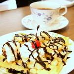 T&Kコーヒー - チョコバナナワッフル