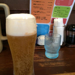 麺家 こころ - 生ビール、美味い!