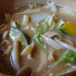 民芸茶屋 清水 - 味噌スープで煮込まれたほうとう