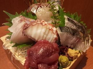 魚 枡 - 五合枡盛り