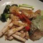 鉄板Diner JAKEN - 海鮮いろいろ焼き(鰆、白いか、帆立、海老)