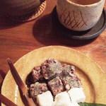 李青 - 「アマドコロ茶」と「韓国餅」