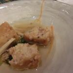 42112921 - 煮物はイカ天でした。普段は魚煮物みたいです。