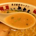42114162 - 201509 長時間に込んだ豚骨の旨味と醤油のコク、野菜の甘みを感じるスープ