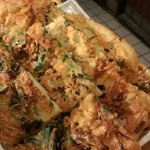 42114932 - 福一のチヂミと似てる揚げたみたいなチヂミでサクサクして美味しい(^o^)でも美味しいからとお代わりしたら肉を食べられなくなるからガマンね(笑)