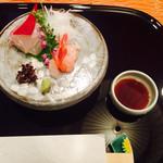 日本料理 嵯峨野 - 造里 (鯛、海老)