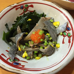 本鮪と黒豚料理CHOCHINちょうちん - 鮪薄皮ポン酢