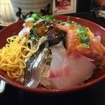 松葉寿司 - 海鮮丼(裏面)