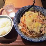 麺処直久 - とんさいらーめん(大盛) + 小ライス