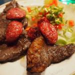 セグレード - エスベト ミスト(牛肉とブラジルソーセージのBBQ風)、ライス付  \1,260