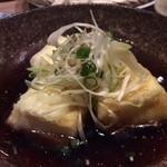 しゃぶ蕎麦 小次郎 水道橋店 - 美盛の豆乳で揚げ豆腐