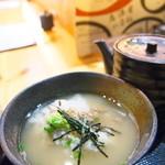 日本酒庵 吟の杜 - カニ鯛膳(お茶漬け)