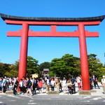 42129507 - 鶴岡八幡宮の大鳥居