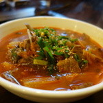 金太郎焼肉 - カルビクッパ(激辛)¥1050