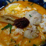 42132932 - 豆乳スープ+ライス+ラージャー玉(半量)