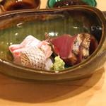 樋口 - お造り (鯛と鰹) (2015/09)