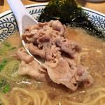 丸源ラーメン - お肉がタップリですね(((o(*゚▽゚*)o)))