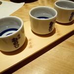 蔵人厨 ねのひ - 純米利き酒三種セット (純米大吟醸/純米吟醸/純米酒)\700