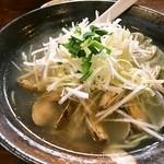 麺 みの作 - あさりねぎ麺