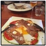 クラゲストア - ガレットランチ。 前菜も美味いよ。 客層が自由が丘。