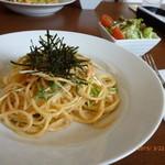 カフェアンジェ - 明太子スパ(本日のランチ)