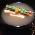 42144563 - かぶ摺り流し 玉子豆腐 紅ずわい蟹