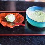 Chaanfuyou - 冷抹茶と上生菓子のセット