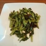 42155650 - 空心菜のニンニク強火炒め