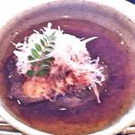 四季亭 - 中に人参や里芋も入っている大和茄子の煮物。