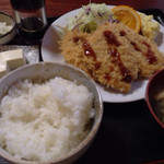 ワカバ - 料理写真:アジフライ定食