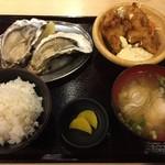 大厚岸 - 牡蠣御膳Aセット1000円です。人気No.1なのですとか。