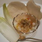 42158349 - 朱雀 海鮮の金沙炒め 海老煎餅添え