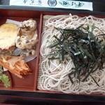 そば処冨久屋 - 野菜天ざる(税込970円)