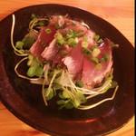 呑み処 俺ん家 - 料理写真:ゆず風味の鰹のたたき